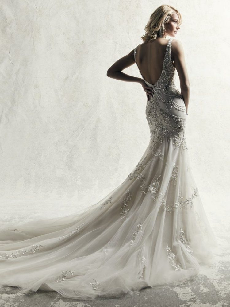 Fully Beaded Sleeveless Fit And Flare Wedding Dress by Maggie Sottero - Image 2