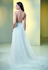 Lace And Embroidered Sheath Wedding Dress by Maison Signore - Image 3