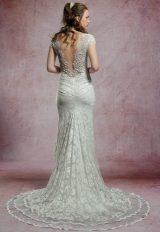 Beaded Cap Sleeve Lace Wedding Dress by Olvi's - Image 2