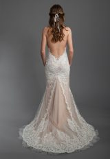Sheath Lace Embroidered Wedding Dress by Olvi's - Image 2