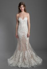 Sheath Lace Embroidered Wedding Dress by Olvi's - Image 1