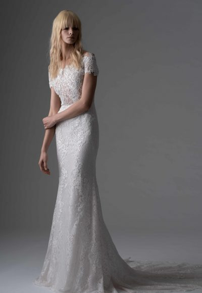 Fully Lace Sheath Wedding Dress by Alyne by Rita Vinieris