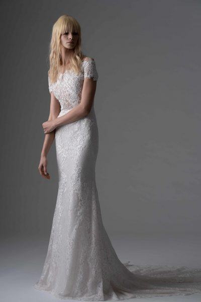 Fully Lace Sheath Wedding Dress by Alyne by Rita Vinieris - Image 1