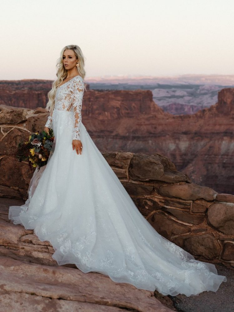 Long Sleeve Lace Ball Gown Wedding Dress Kleinfeld Bridal