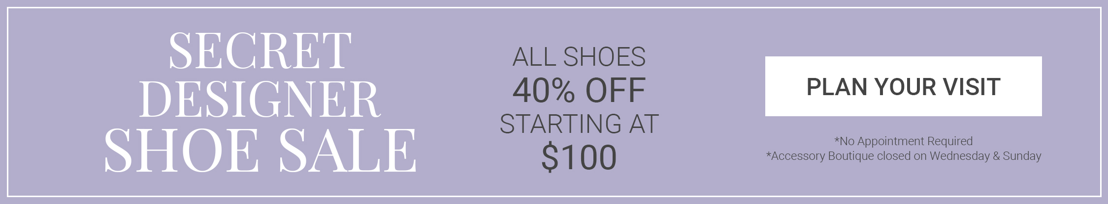 April 2019 Shoe Sale Banner