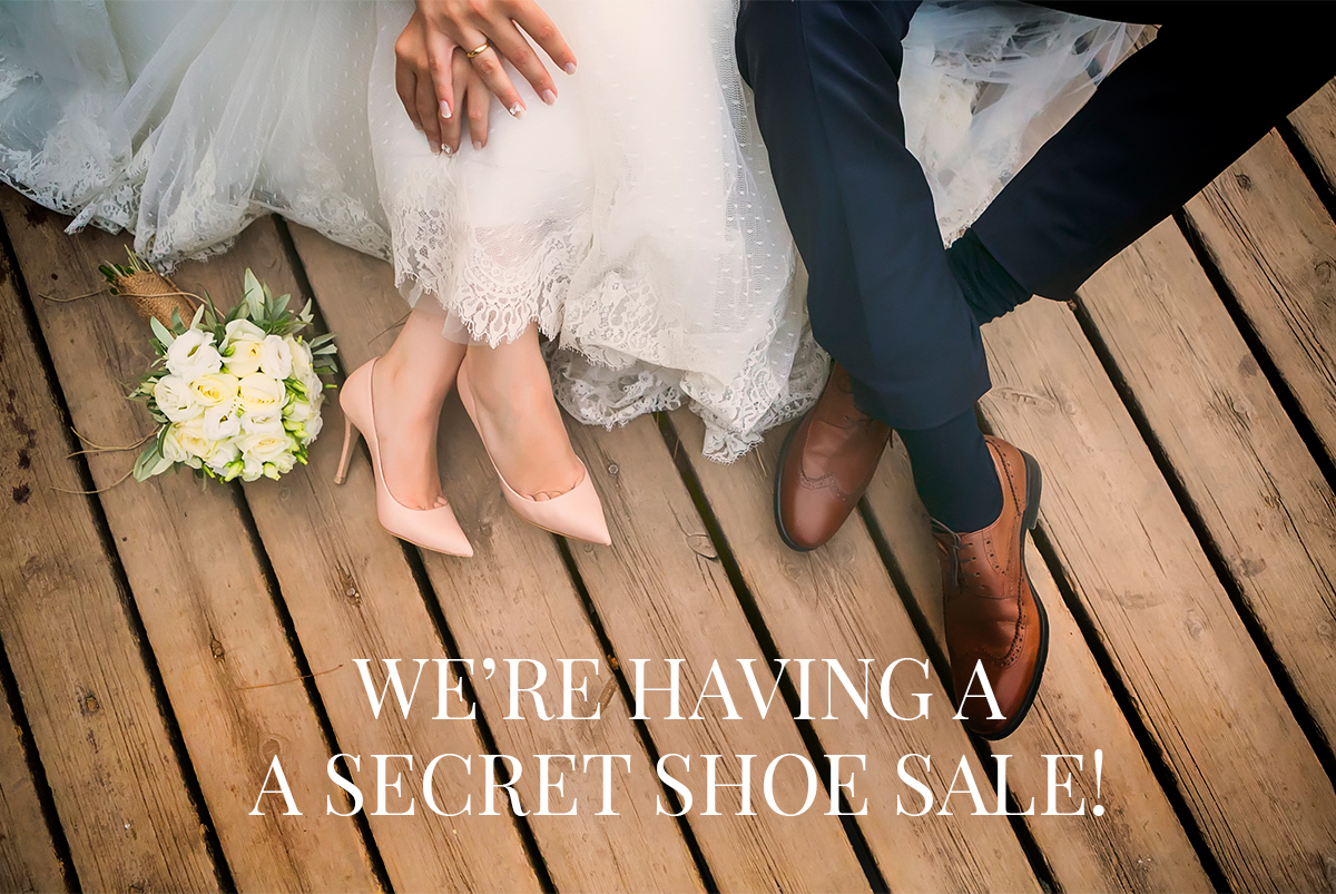 April 2019 shoe sale header