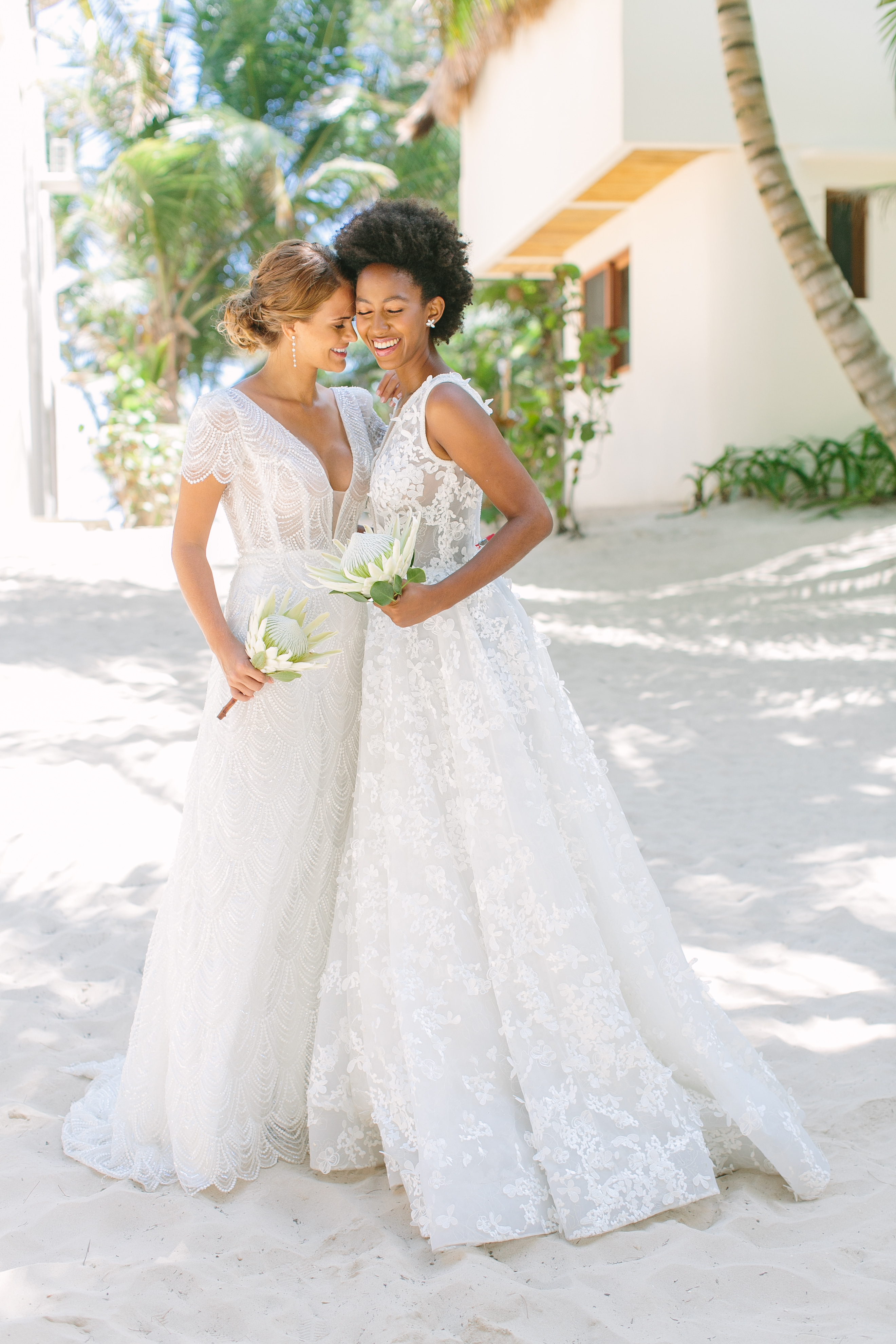 Tulum Weddings Are Unbelievably Romantic—Here's Proof: We took Kleinfeld Bridal wedding dresses and Kleinfeld Bridal Party bridesmaids dresses to Tulum, Mexico for a fun photoshoot on the beach full of flowers, sun, sand and fun!Tulum Weddings Are Unbelievably Romantic—Here's Proof: We took Kleinfeld Bridal wedding dresses and Kleinfeld Bridal Party bridesmaids dresses to Tulum, Mexico for a fun photoshoot on the beach full of flowers, sun, sand and fun!