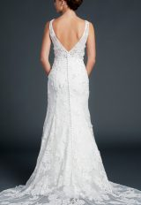 V-neck A-line With Floral Appliques by Anne Barge - Image 2