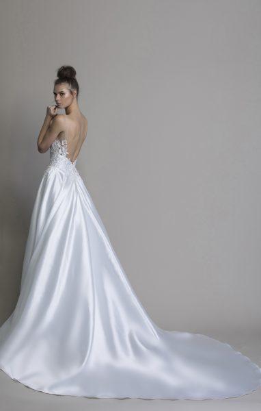 A-line Silk V-neck Wedding Dress by Love by Pnina Tornai - Image 2