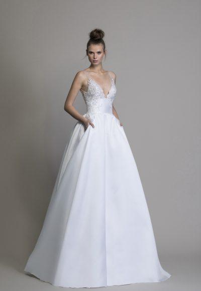 d1ce8d0e75cd Style #DAKOTA · A-line Silk V-neck Wedding Dress by Love by Pnina Tornai