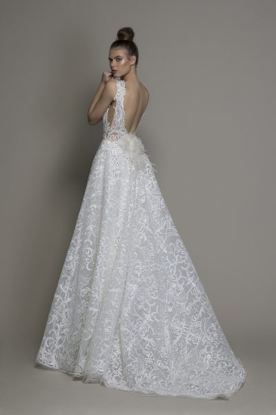 A-line Sleeveless Lace Wedding Dress by Love by Pnina Tornai - Image 2