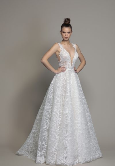 75dee0a45d Style #AUDREY · A-line Sleeveless Lace Wedding Dress by Love by Pnina Tornai