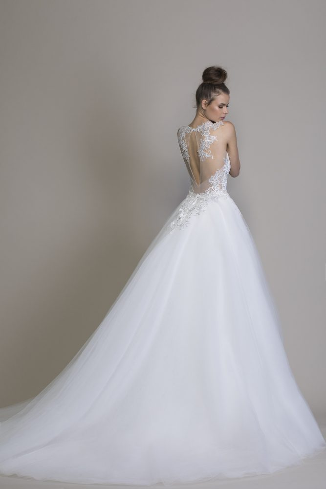 Detachable Overskirt With Lace Applique by Love by Pnina Tornai - Image 2