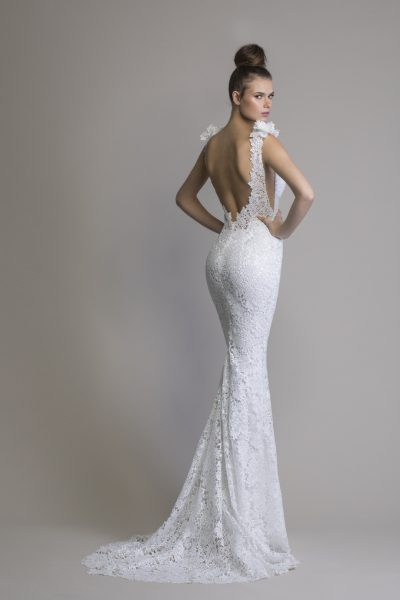 Fit To Flare Lace Sleeveless Wedding Dress by Love by Pnina Tornai - Image 2