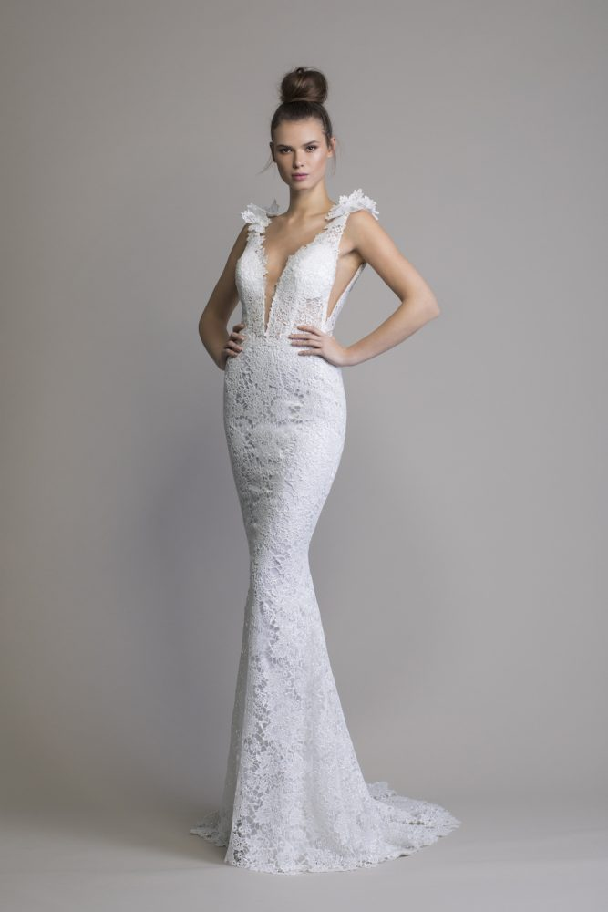 Fit To Flare Lace Sleeveless Wedding Dress by Love by Pnina Tornai - Image 1