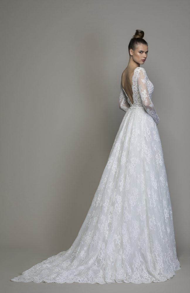 Long Sleeve Lace A-line Wedding Dress by Love by Pnina Tornai - Image 2