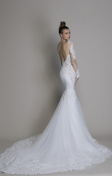 Long Sleeve Mermaid Wedding Dress by Love by Pnina Tornai - Image 2