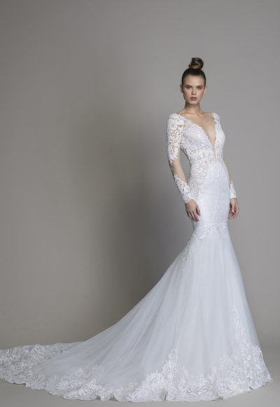 Long Sleeve Mermaid Wedding Dress by Love by Pnina Tornai