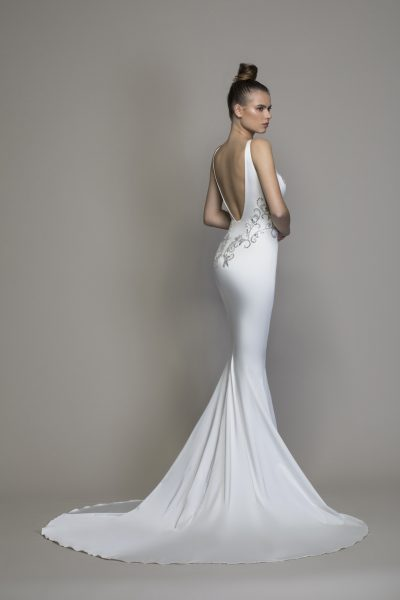 Satin Sheath With Embellishments And Cutouts by Love by Pnina Tornai - Image 2