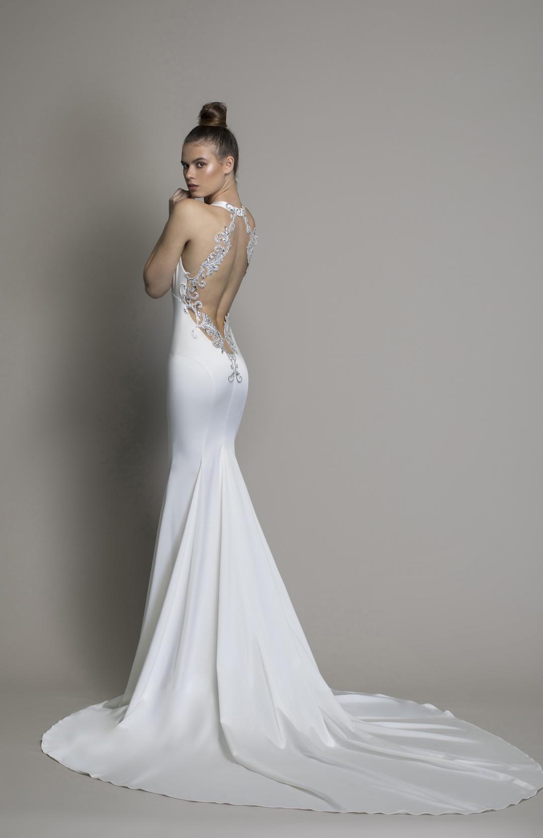 459d9f7f8cb Sheath Satin V-neck Wedding Dress