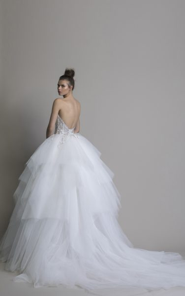Strapless Beaded Tulle Skirt Ball Gown by Love by Pnina Tornai - Image 2