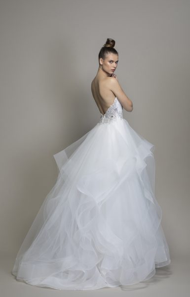 Strapless Textured Skirt Ball Gown by Love by Pnina Tornai - Image 2