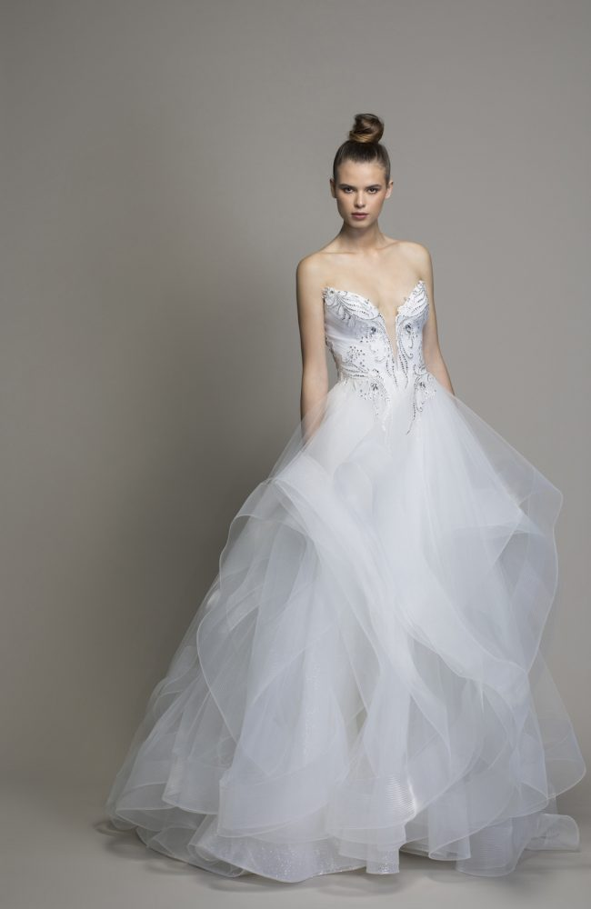 Strapless Textured Skirt Ball Gown by Love by Pnina Tornai - Image 1