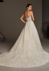 Strapless Sweetheart Lace Corset A-line Wedding Dress by Pronovias - Image 2