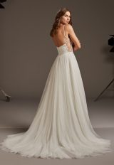 Tulle Spaghetti Strap A-line Wedding Dress by Pronovias - Image 2