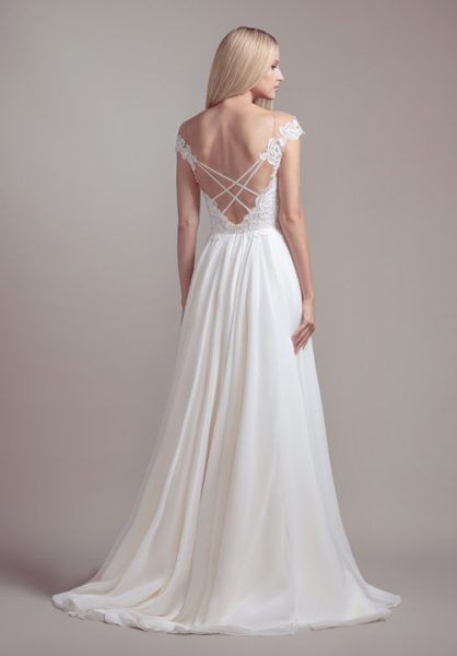Lace Cap Sleeve A-line Wedding Dress by BLUSH by Hayley Paige - Image 2