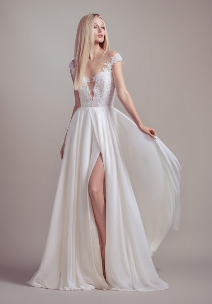 Lace Cap Sleeve A-line Wedding Dress by BLUSH by Hayley Paige - Image 1