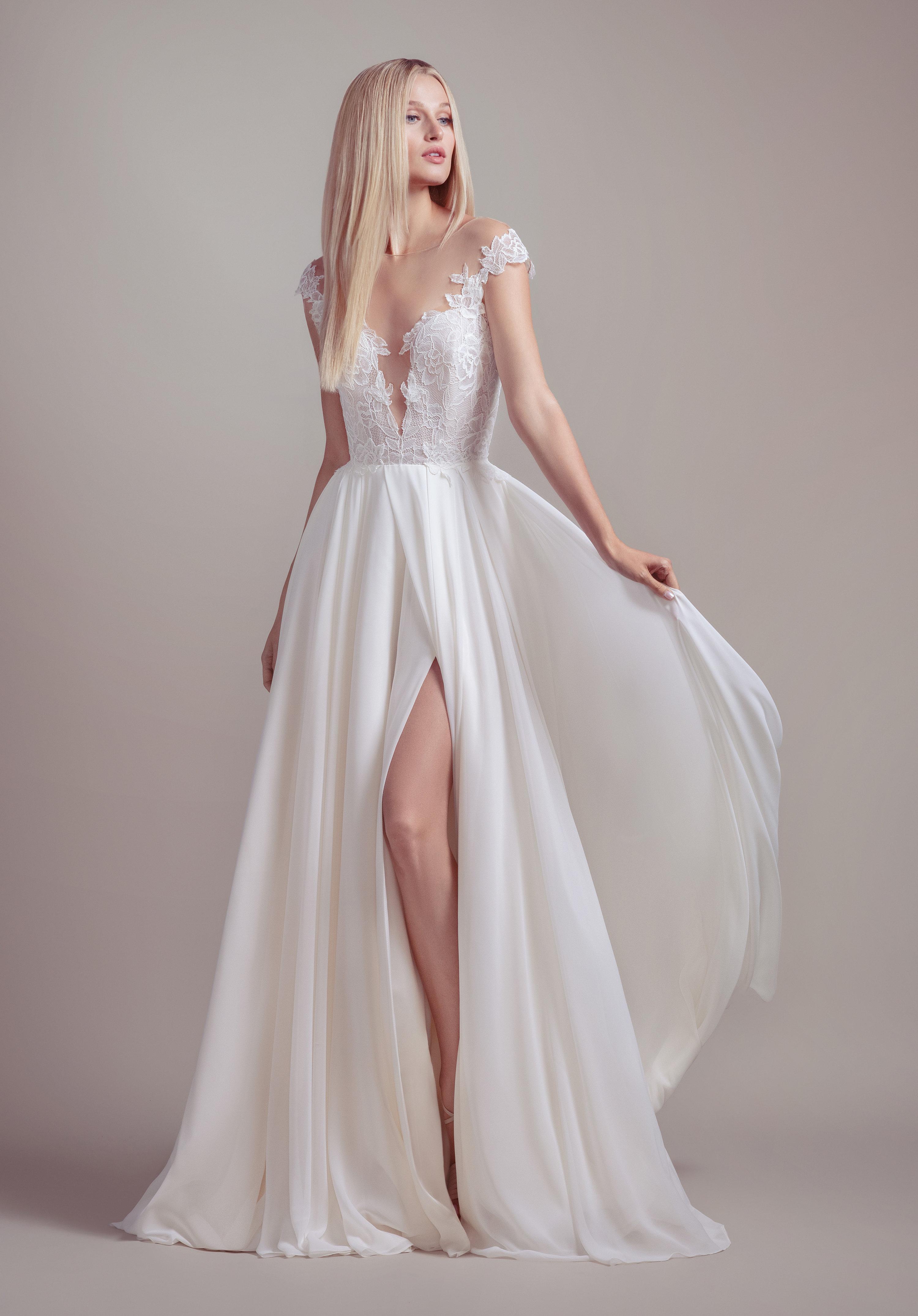 920d764b48b2 Lace Cap Sleeve A-line Wedding Dress   Kleinfeld Bridal