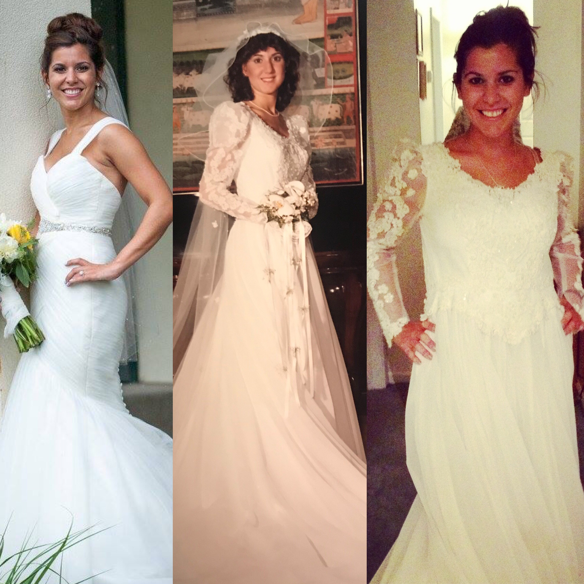 Take a look at these Kleinfeld brides and their moms in their wedding dresses on their wedding day in honor of Mother's Day!