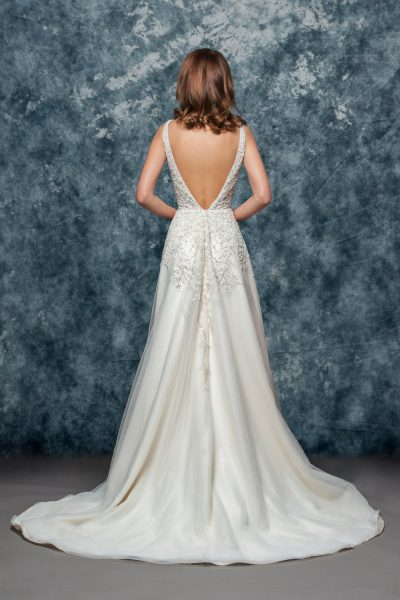 A-line Beaded Wedding Dress by Enaura Bridal - Image 2