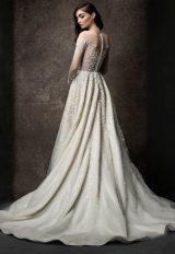 Long Sleeve Illusion A-line Wedding Dress by Enaura Bridal - Image 2