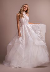 Blush Ball Gown High Neck Wedding Dress by Hayley Paige - Image 1
