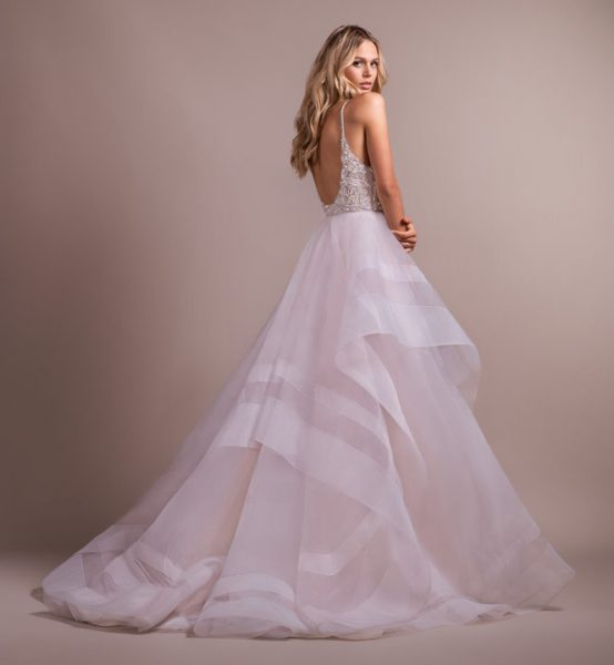 Blush Ball Gown With Horsehair Skirt by Hayley Paige - Image 2