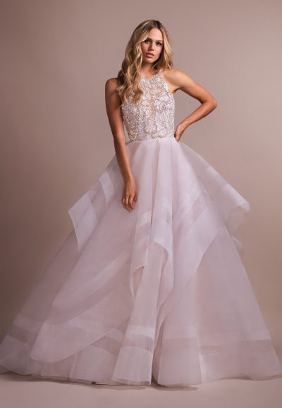Blush Ball Gown With Horsehair Skirt by Hayley Paige