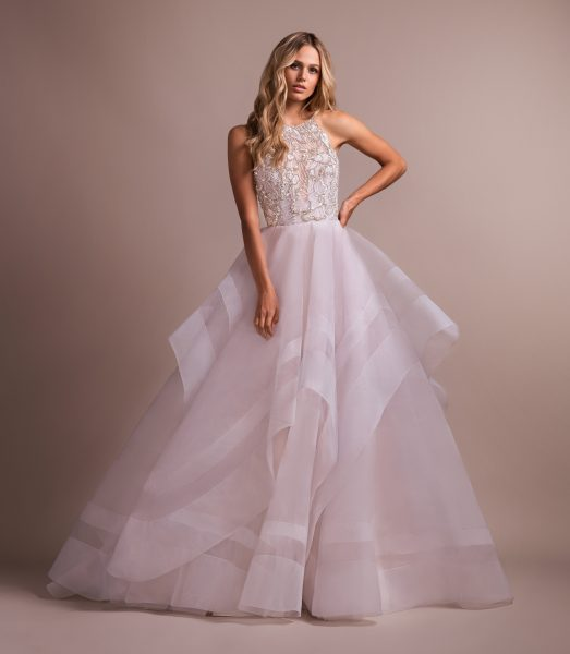 Blush Ball Gown With Horsehair Skirt by Hayley Paige - Image 1