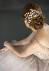French Knot Silver And Navette Rhinestone Sash by Justine M. Couture - Image 1