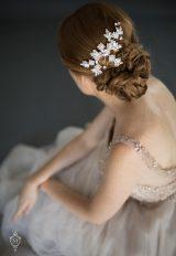 Swarovski Navette Rhinestone Leaf Comb by Justine M. Couture - Image 1
