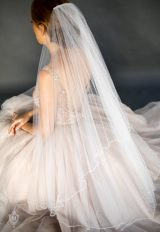 Two Tier Clear Sparkle And Diamond Crystal Veil by Justine M. Couture - Image 1