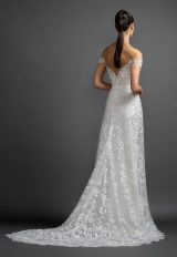 Off The Shoulder Lace A-line Wedding Dress. by Lazaro - Image 2