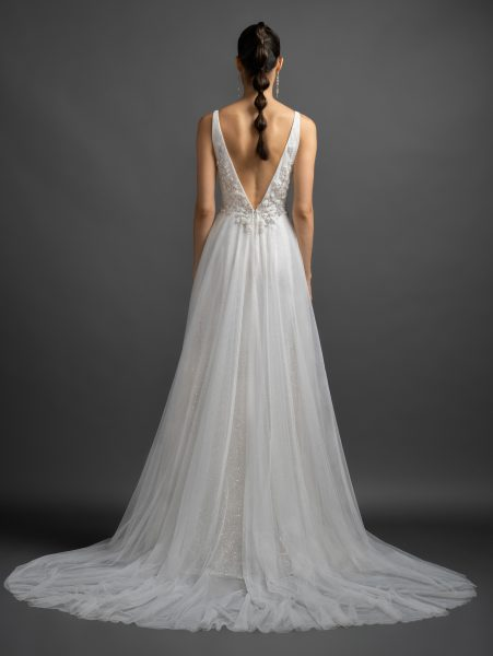 Sparkle A-line V-neck Wedding Dress by Lazaro - Image 2