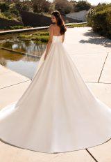 Silk Strapless Ball Gown Wedding Dress by Pronovias - Image 2