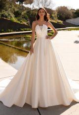 Silk Strapless Ball Gown Wedding Dress by Pronovias - Image 1