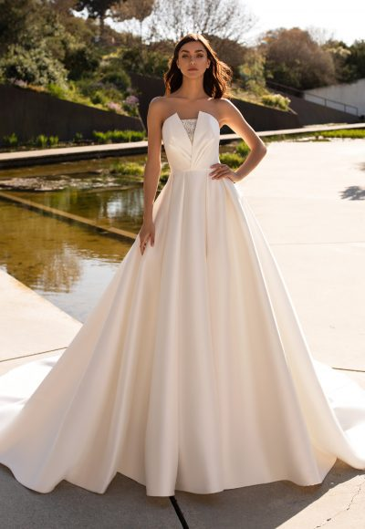 Silk Strapless Ball Gown Wedding Dress by Pronovias
