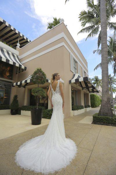 Lace Sheer Bodice Wedding Dress by Randy Fenoli - Image 2