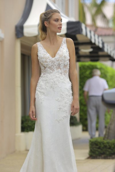 Randy Fenoli Wedding Dresses.Lace Sheer Bodice Wedding Dress