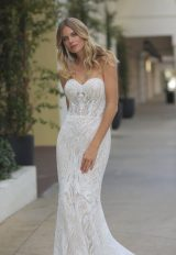 Strapless Glitter Embroidered Wedding Dress by Randy Fenoli - Image 2